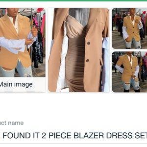 SHE FOUND IT 2 PIECE BLAZER DRESS SET